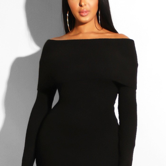 Touch Dolls Dresses & Skirts - Sexy Off Shoulder Sweater Dress - NEW! - Medium